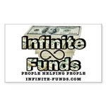 Infinite Funds Logo With Link Sticker