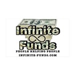 Infinite Funds Logo With Link 35x21 Wall Decal