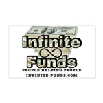 Infinite Funds Logo With Link 20x12 Wall Decal