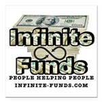 """Infinite Funds Logo With Square Car Magnet 3"""""""