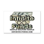 Infinite Funds Logo With Link Rectangle Car Magnet