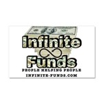 Infinite Funds Logo With Link Car Magnet 20 x 12
