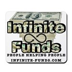 Infinite Funds Logo With Link Mousepad