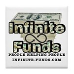 Infinite Funds Logo With Link Tile Coaster