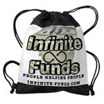Infinite Funds Logo With Link Drawstring Bag
