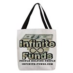 Infinite Funds Logo With Link Polyester Tote Bag