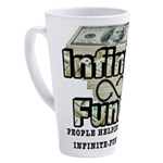 Infinite Funds Logo With Link 17 oz Latte Mug