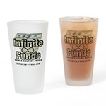 Infinite Funds Logo With Link Drinking Glass