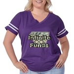 Infinite Funds Women's Plus Size Football T-Sh