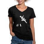 Bouldering Women's V-Neck Dark T-Shirt