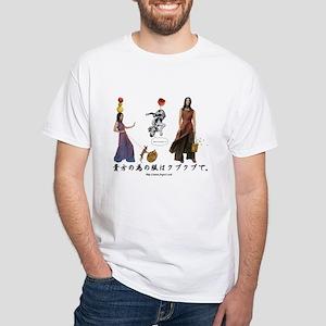 aodai girl & dogs White T-Shirt