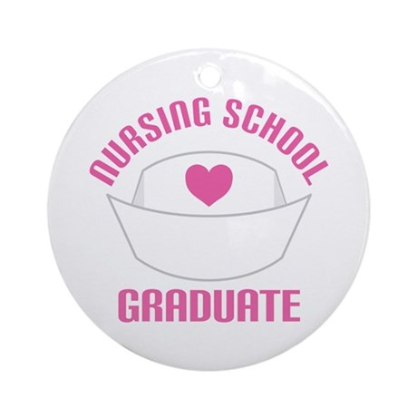 Nursing School Graduation Ornament (Round)