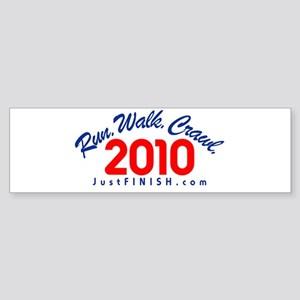 2010 - Run. Walk. Crawl. Sticker (Bumper)
