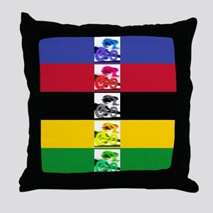 world champ stripes Throw Pillow