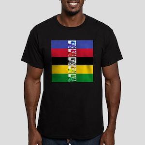world champ stripes Men's Fitted T-Shirt (dark)