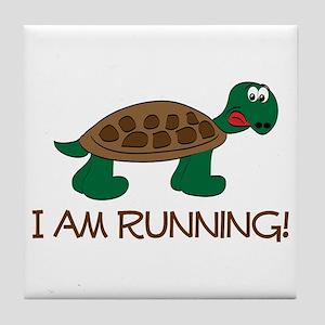 Running Tortoise Tile Coaster