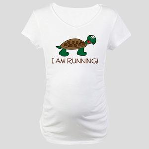 Running Tortoise Maternity T-Shirt