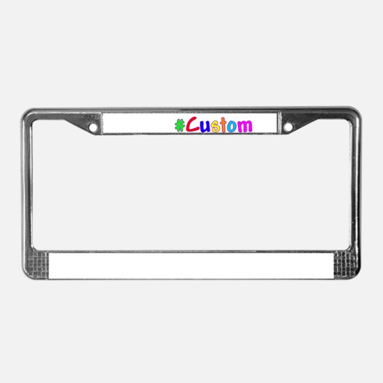 #Custom License Plate Frame
