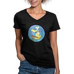 MICHIGAN Women's V-Neck Dark T-Shirt