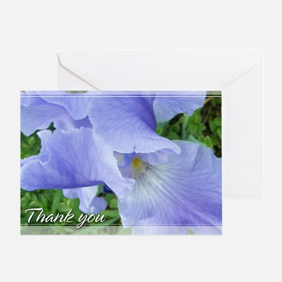 Blue-Violet Iris Thank You Card 5x7