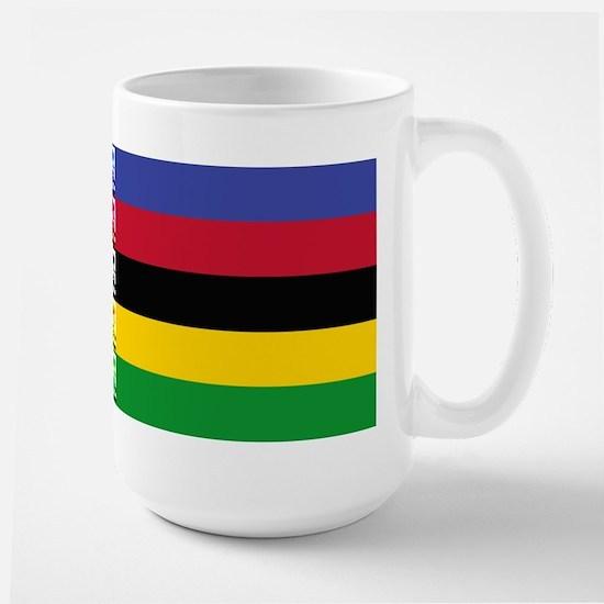 world champ stripes Large Mug