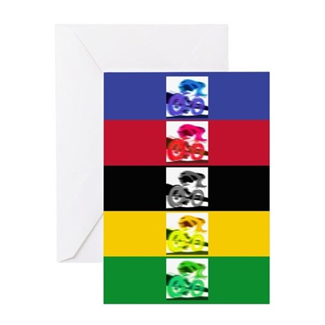 world champ stripes Greeting Card