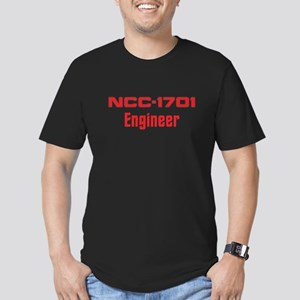 NCC-1701 Engineer (red) Men's Fitted T-Shirt (dark