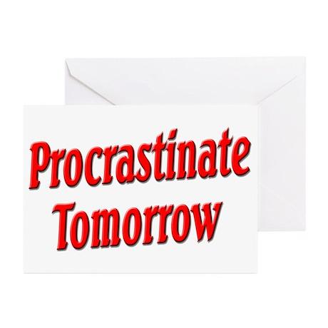 Procrastinate Tomorrow Greeting Cards (Pk of 20)
