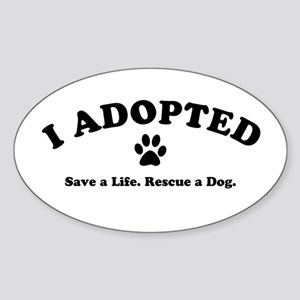 I Adopted Sticker (Oval)