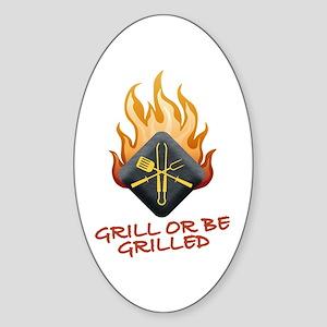 Grill Master Sticker (Oval)