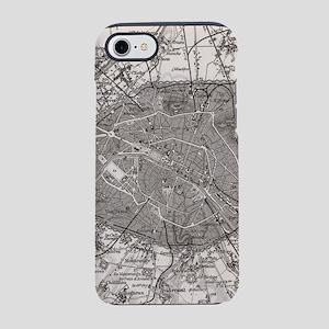 Vintage Map of Paris France (1 iPhone 7 Tough Case