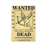 Wanted Cupid Rectangle Magnet