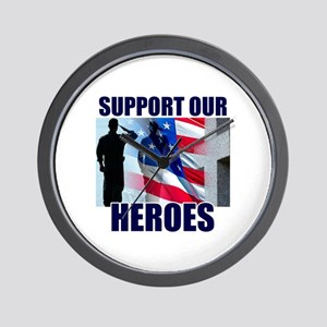 Support Our Heros Wall Clock