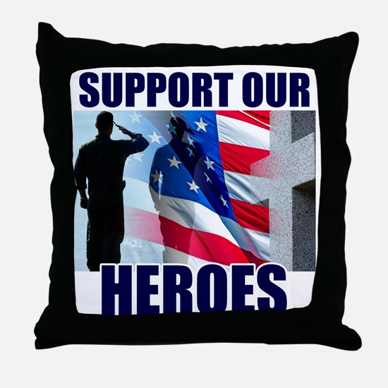 Support Our Heros Throw Pillow