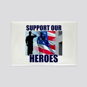 Support Our Heros Rectangle Magnet