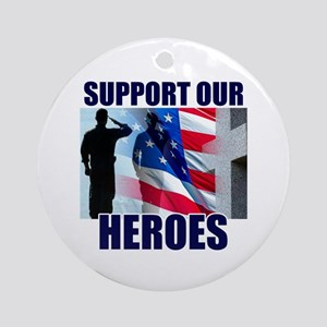 Support Our Heros Ornament (Round)