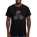 Celtic Triple Spiral Men's Fitted T-Shirt (dark)