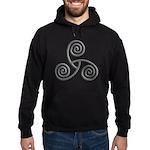 Celtic Triple Spiral Hoodie (dark)