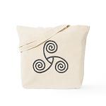 Celtic Triple Spiral Tote Bag