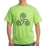 Celtic Triple Spiral Green T-Shirt