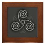 Celtic Triple Spiral Framed Tile