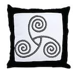 Celtic Triple Spiral Throw Pillow