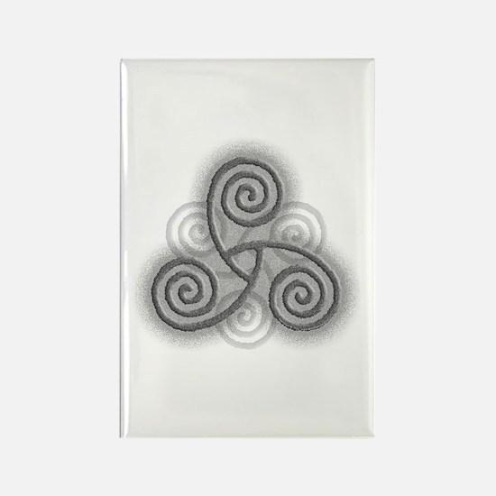 Celtic Triple Spiral Rectangle Magnet
