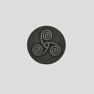 Celtic Triple Spiral Mini Button