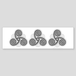 Celtic Triple Spiral Sticker (Bumper)