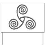 Celtic Triple Spiral Yard Sign