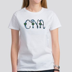 CNA Blue Silver Emerald Heart Women's T-Shirt