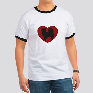 Long Haired Chihuahua Heart Ringer T
