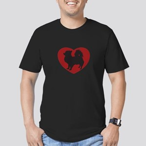 Long Haired Chihuahua Heart Men's Fitted T-Shirt (