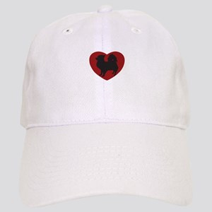 Long Haired Chihuahua Heart Cap